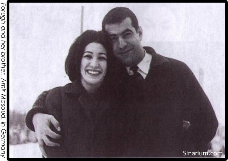 Forough Farrokhzad and her brother, Amir-Masoud, in Germany